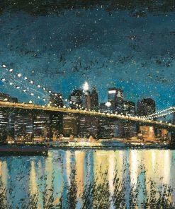 Il ponte di Brooklyn di notte