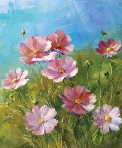 Fiori di campo rosa