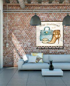 Ambientazione soggiorno con Illustrazione di accessori lussuosi