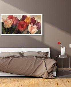 Tulipani con effetto sfocato