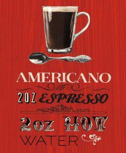 Pannello decorativo caffè americano