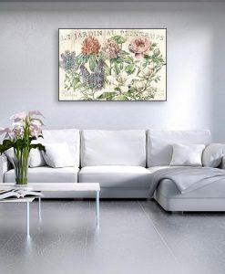 Ambientazione Illustrazione vintage fiori primaverili