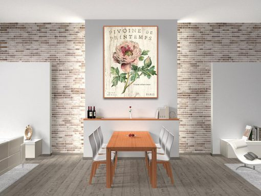 Ambientazione Illustrazione vintage di una peonia