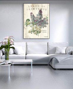 Ambientazione Illustrazione vintage di un lillà