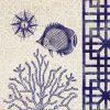 Tela con illustrazione di un pesce