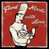 Illustrazione rétro chef con frase