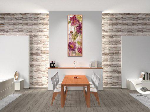 Ambientazione cucina Schizzo di fiori color magenta
