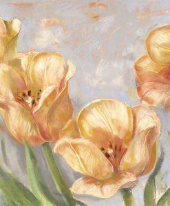Tulipani gialli in stile vintage