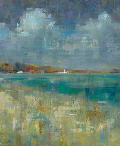 Dipinto astratto della costa marittima