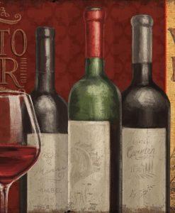 Bottiglie di vino di un bar