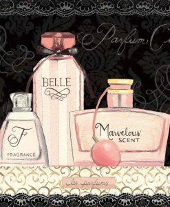 Illustrazione di boccette di profumo