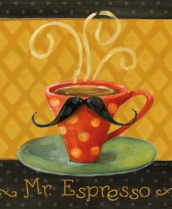Tazza di caffè con i baffi