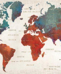 Cartina del mondo colorata
