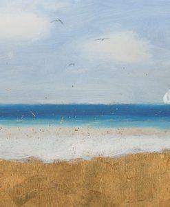Orizzonte di una spiaggia dorata