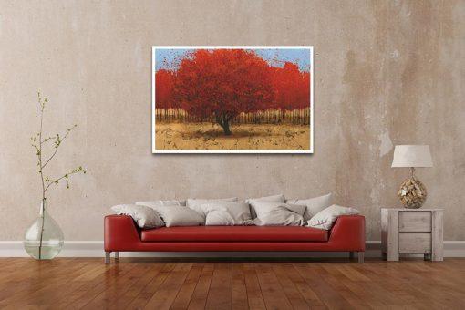 Ambientazione Alberi dalle foglie arancio