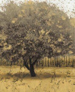 Albero con bosco dorato