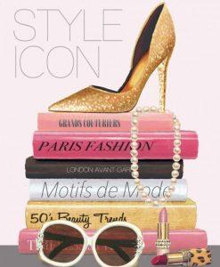 Libri moda con accessori glamour