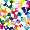 Cubi multicolore con sfumature