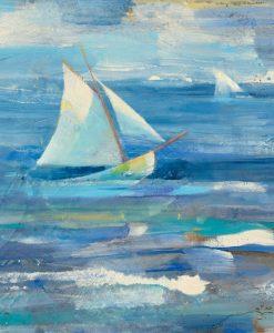 Barche a vela nell'oceano