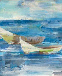 Barche da pesca nell'oceano