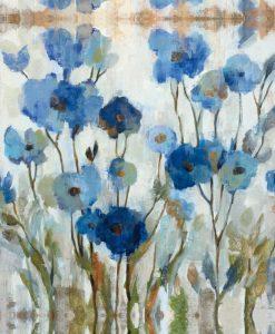 Fiori astratti blu