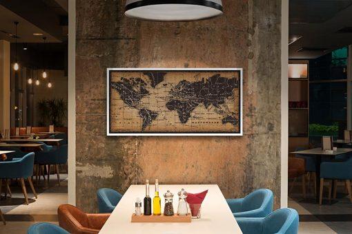Antica cartina del mondo