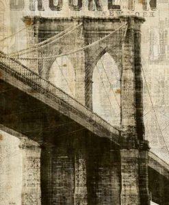 Stampa vintage del ponte di Brooklyn