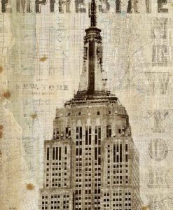 Stampa vintage dell'Empire State Building