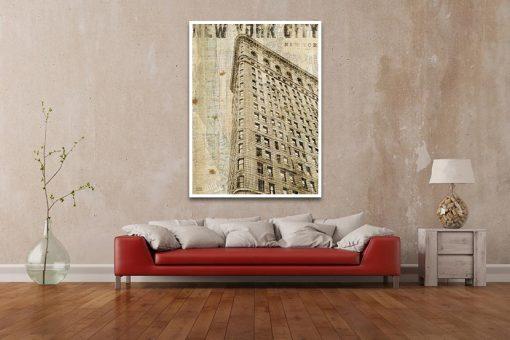 Ambientazione Stampa vintage del Flatiron Building
