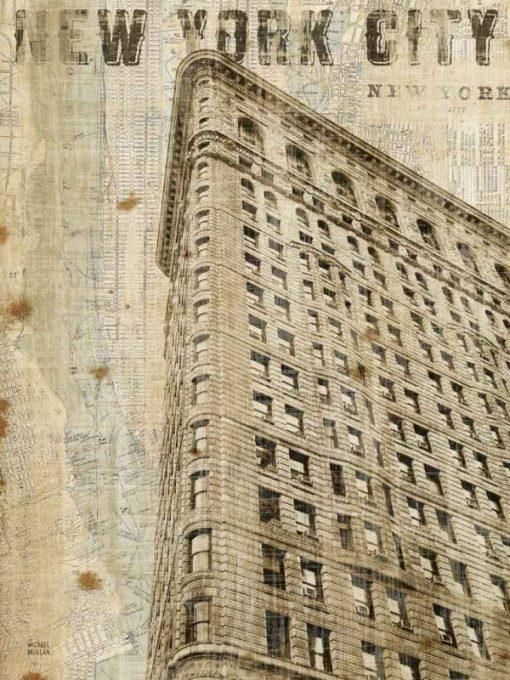 Stampa vintage del Flatiron Building