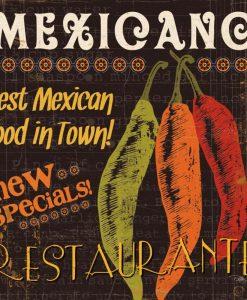 Insegna di un ristorante di cibo messicano