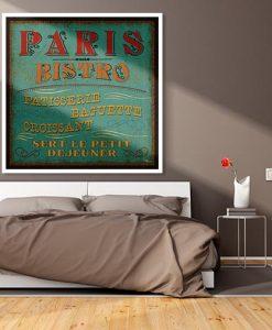 Insegna di un bistro a Parigi