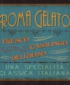Insegna gelateria a Roma