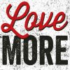 "Scritta decorativa ""Love more"""