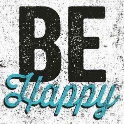 """Scritta decorativa """"Be happy"""""""