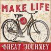 Frase motivazionale con bicicletta