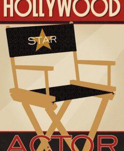 Manifesto Hollywood Actor rétro