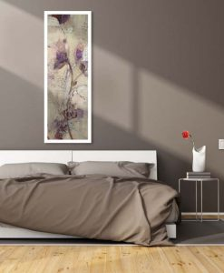 Dipinto di fiori con dettagli argento con effetto invecchiato