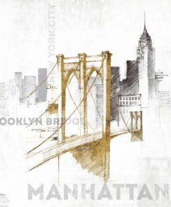 Schizzo del ponte di Brooklyn