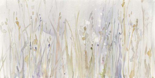 Fili d'erba delicati dai colori autunnali
