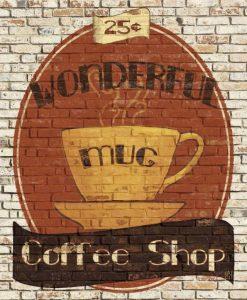 Murale di un cafe