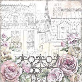 Balcone fiorito sui tetti di Parigi
