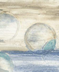 Dipinto astratto con cerchi dai toni pastello