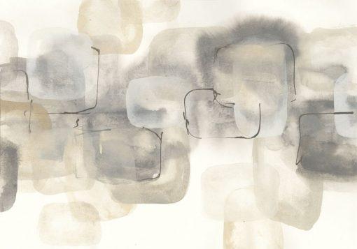Acquerello con quadrati a sfumature grigie