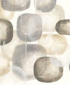 Acquerello con composizione di pietre