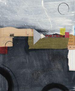 Composizione con carta su sfondo dipinto