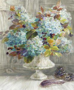 Dipinto con vaso di gerani