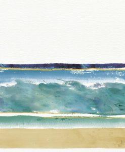 Dipinto astratto del mare e le sue sfumature di colore