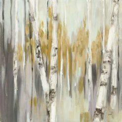 Bosco di betulle con sfondo sfocato
