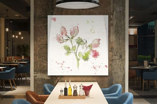 Illustrazione di fiori dipinti con macchie di colore